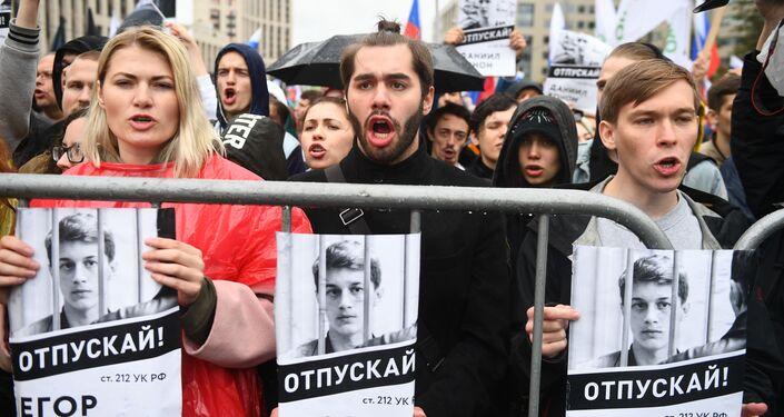 モスクワ市議会選挙デモ