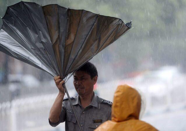 中国・山西省、長雨で洪水