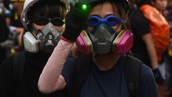 香港デモの参加者ら - Sputnik 日本