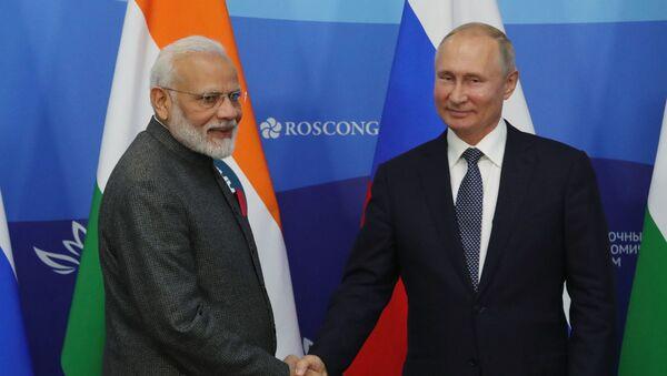 プーチン大統領とモディ首相 - Sputnik 日本