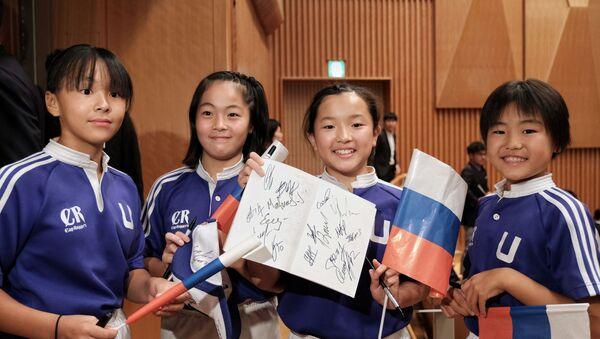ラグビーロシア代表チームの歓迎セレモニー  - Sputnik 日本