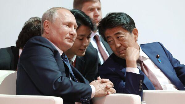 安倍首相とプーチン大統領(東方経済フォーラム) - Sputnik 日本