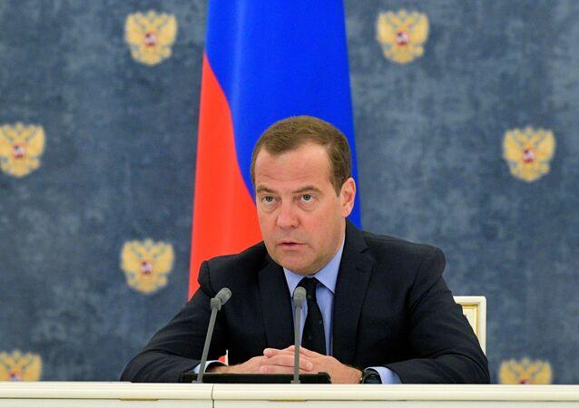 ロシアのドミトリー・メドベージェフ首相