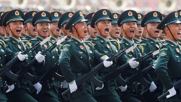中国の軍事パレードに参加した兵士 - Sputnik 日本