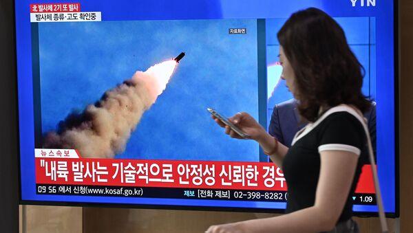 Новостной выпуск об испытании в КНДР двух ракет малой дальности - Sputnik 日本
