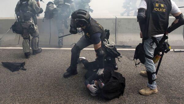 香港で抗議活動 - Sputnik 日本
