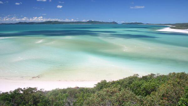 Пляж Уайтхэвен на острове Витсандей в Австралии - Sputnik 日本