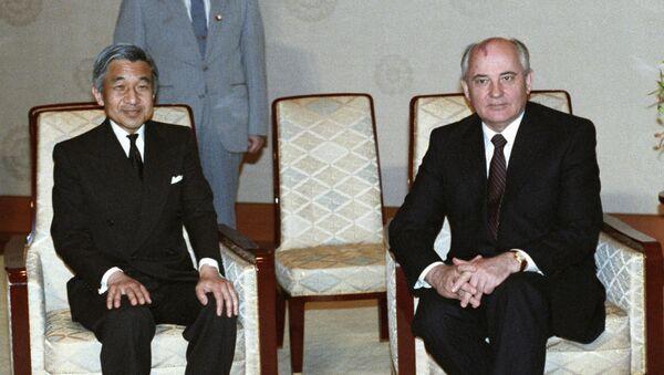 ソ連のミハイル・ゴルバチョフ大統領と、当時の明仁天皇 - Sputnik 日本