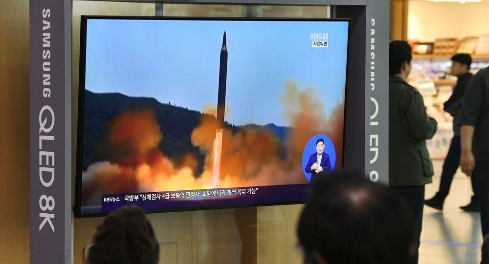 北朝鮮によるミサイル発射についての通知