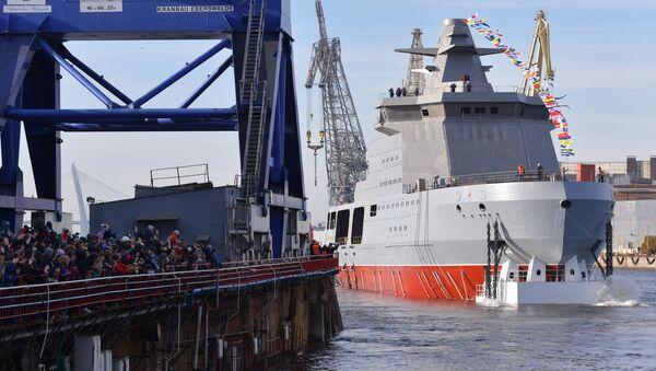 Спуск на воду патрульного корабля Иван Папанин в Санкт-Петербурге - Sputnik 日本
