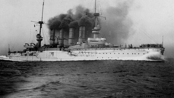 Немецкий броненосный крейсер времкн Первой мировой войны Шарнхорст - Sputnik 日本