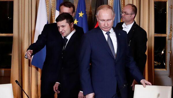 プーチン大統領、ウクライナ大統領との初会談 - Sputnik 日本