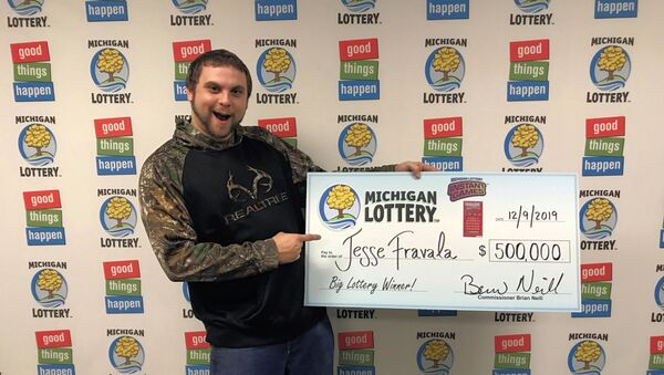 Выигравший в лотерею Michigan Lottery  Джесси Фравала, Мичиган - Sputnik 日本