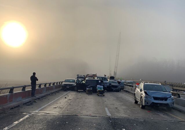 米バージニア州 濃霧で69車台が玉突き衝突 【動画・写真】