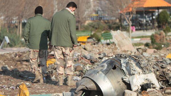 На месте крушения пассажирского лайнера Украины Boeing 737-800 - Sputnik 日本