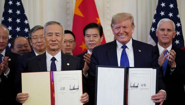 米中 「第1段階」合意に署名 - Sputnik 日本