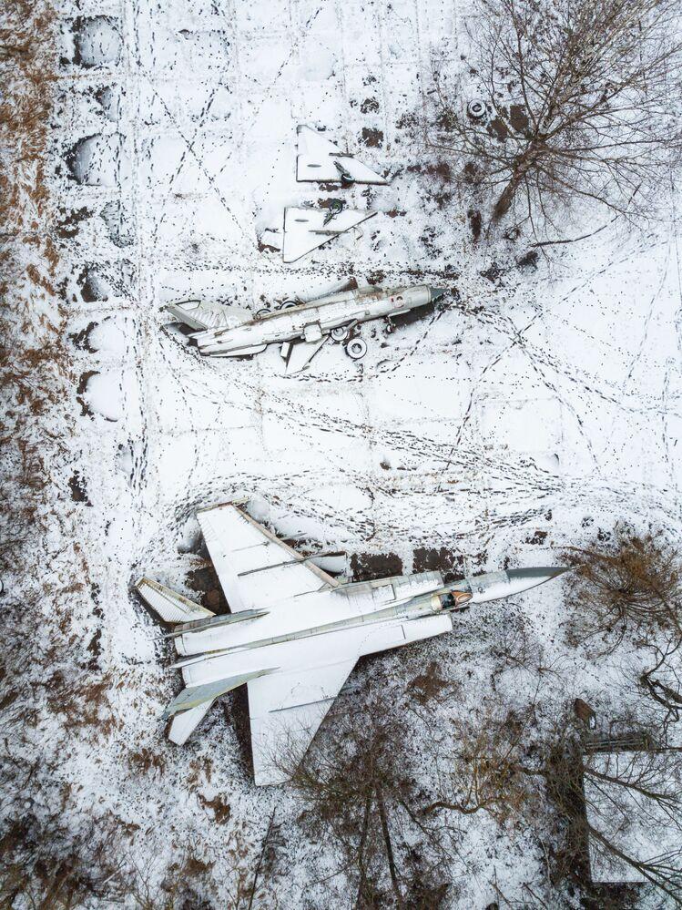 飛行機の墓場 ロシアのトヴェリ州