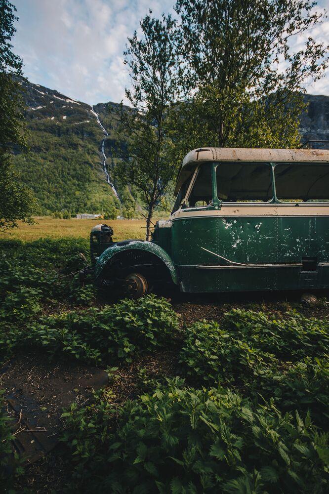廃車となったバス ノルウェー