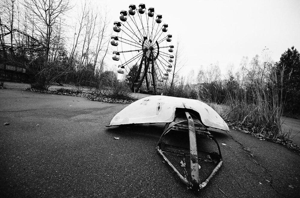 廃園となったプリピャチ遊園地 ウクライナ