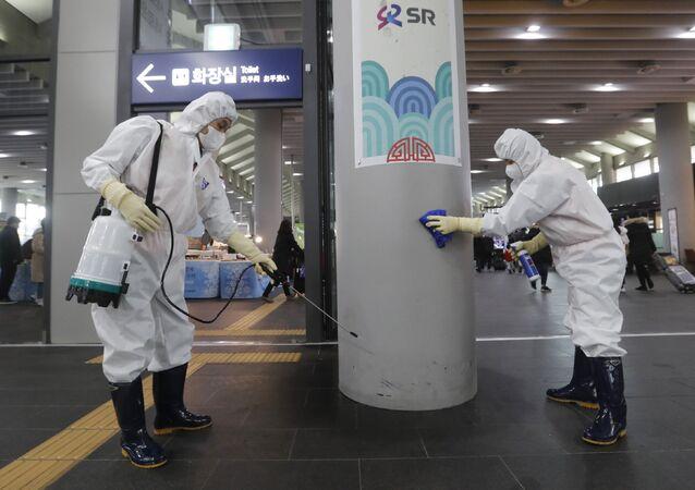 韓国市民へ中国からの退避を呼びかけ