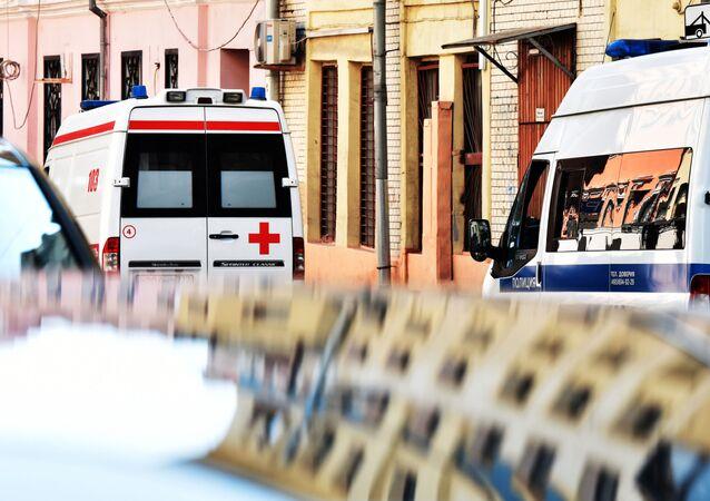 ロシア、救急車(アーカイブ写真)