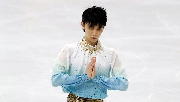 Японский фигурист Юдзуру Ханю выступает на Four Continents Figure Skating Championships в Сеуле - Sputnik 日本