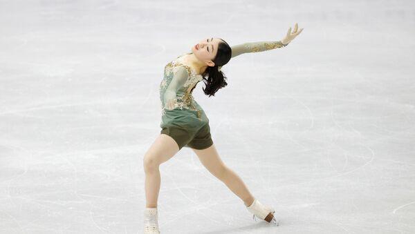 Фигуристка Рика Кихира во время произвольной программы на Чемпионате четырёх континентов по фигурному катанию в Сеуле - Sputnik 日本