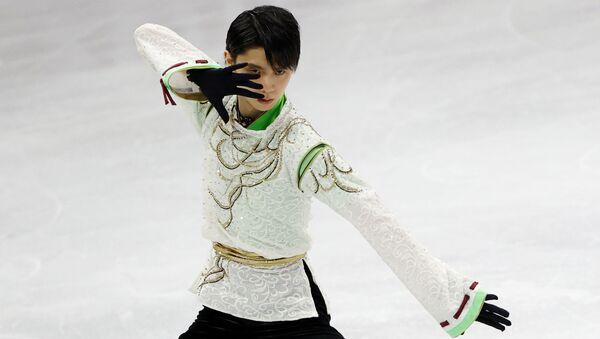 Фигурист Юдзуру Ханю во время выступления на Чемпионате Четырех Континентов в Южной Корее - Sputnik 日本