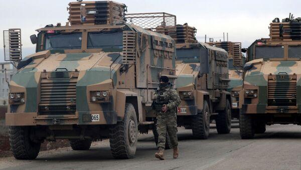 トルコ、シリアのイドリブに装甲兵員輸送車や自走砲を積んだトラック150台を派遣 - Sputnik 日本