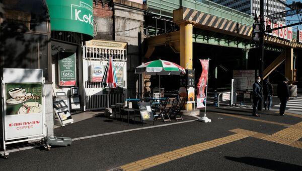 緊急事態宣言を受け、休業中のカフェ - Sputnik 日本