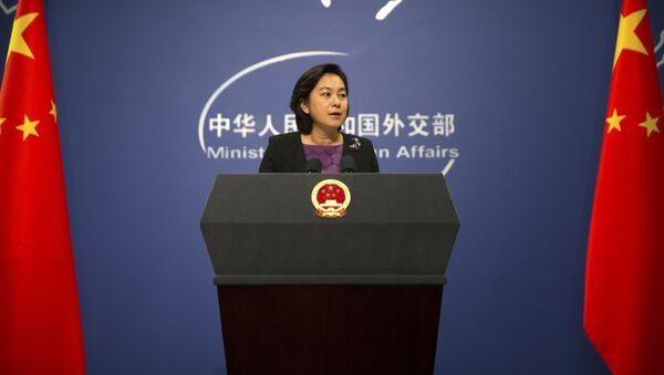 中国外務省の華春瑩報道官 2017年9月15日 - Sputnik 日本