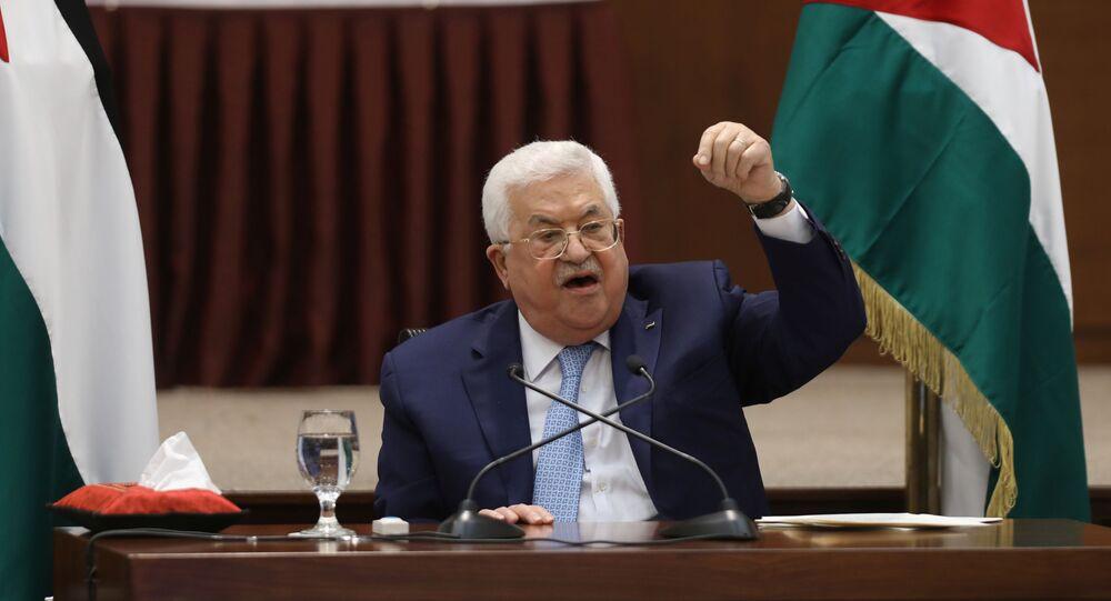 パレスチナ解放機構(PLO)のマフムード・アッバース執行委員会議長