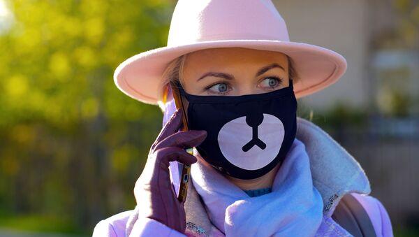 マスクをつけた女性 モスクワ - Sputnik 日本