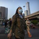 北京の通行人
