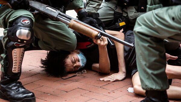 香港 デモ参加者の逮捕 - Sputnik 日本