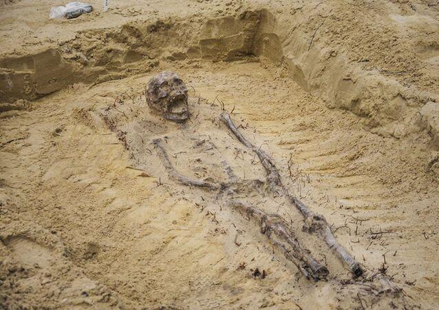 口に硬貨を入れた児童の遺体  ポーランドで数百体が発見