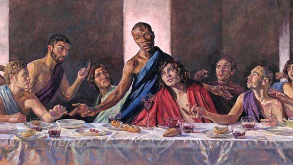 黒人のキリストを描いた『最後の晩餐』 英国の大聖堂に設置される - Sputnik 日本