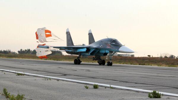 Sputnik Exclusive: Russian Sukhoi jets at airfield near Latakia - Sputnik 日本